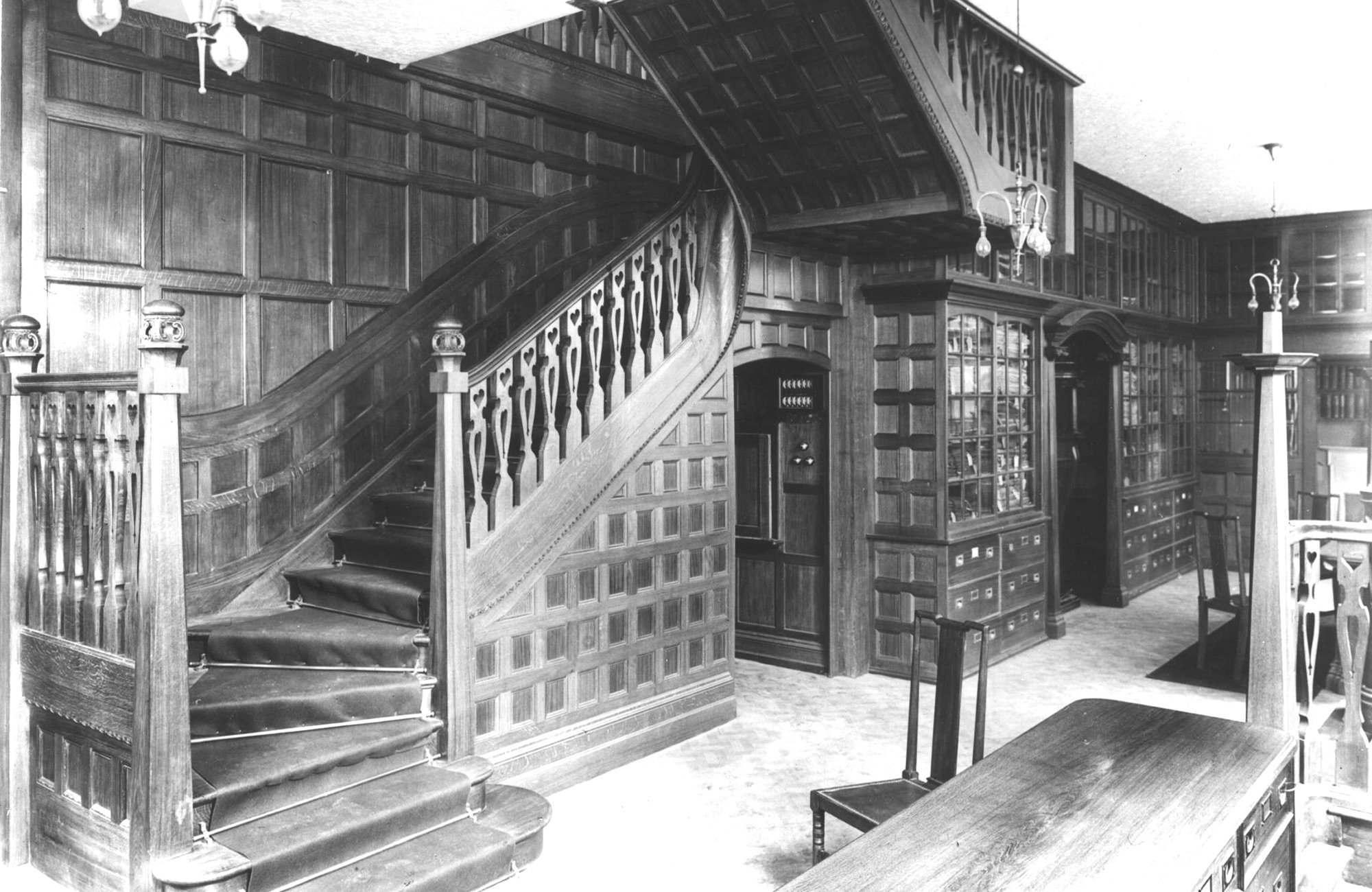 Cordings menswear floor circa 1906