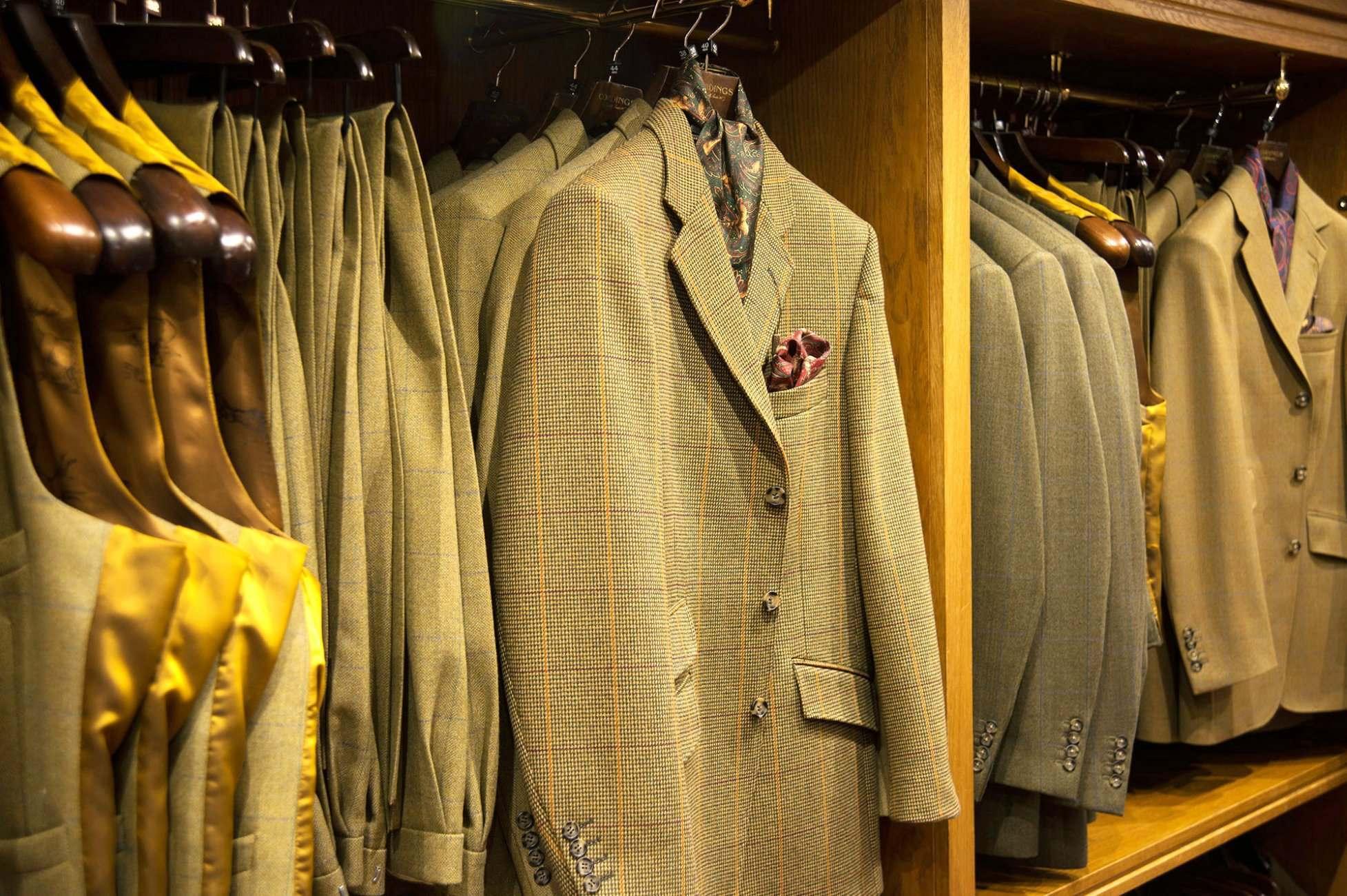 British tweed, a cornerstone of Cordings menswear.