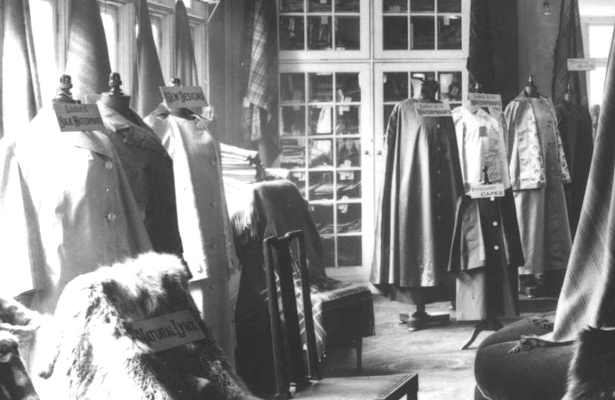 Cordings interior circa 1906 showing the outerwear collection.